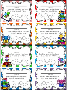 Bug Themed Punch Card Pack