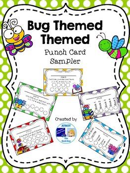 Bug Themed Punch Card SAMPLER