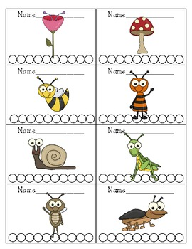 Bug Themed Punch Cards