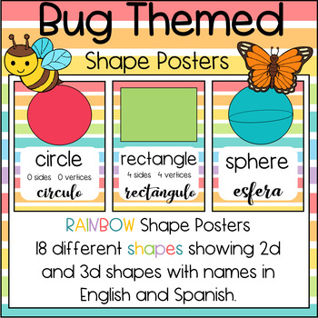 Bug Themed Shapes Posters