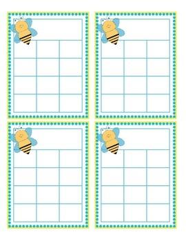 Bug Themed Sticker Charts