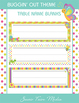 Bug Themed Table Numbers and Blank Student Name Desk Signs - Insect Garden
