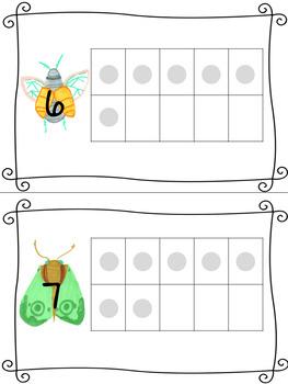 Bug Themed Ten Frames
