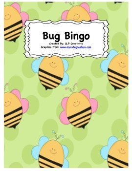Bug Vocabulary Bingo
