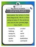 Bug Word Scramble Journal Activity