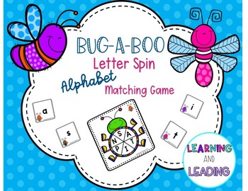 Bug-a-Boo Letter Spin Upper/Lowercase Alphabet Letter Matching Game