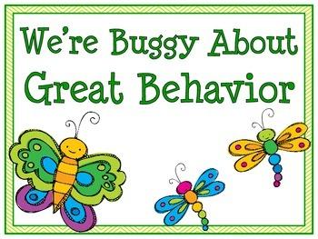 Bug-a-Loo Behavior Clip Chart