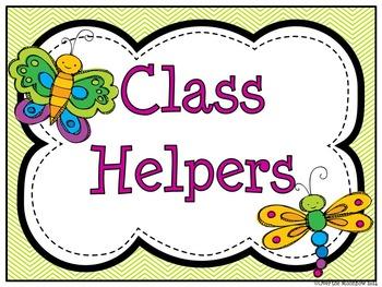 Bug -a- Loo Themed Classroom Jobs Display & Clip Chart