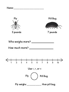 Bug Weight Comparisons