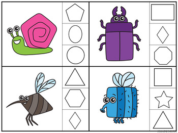 Bug and Insect Clip Card Activities for Toddlers, Preschool, and PreK