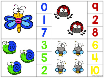 Bug and Insect Match and Clip Card Activities for Toddlers, Preschool, and PreK
