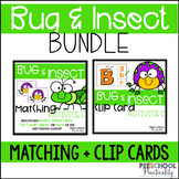 Bug and Insect Match and Clip Card Activities for Toddlers