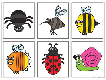 Bug And Insect Matching For Toddlers Preschool And Prek Tpt