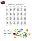 Bug and Insect Word Search