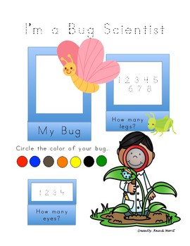 Scavenger Hunt Bugs Plants, Plant Measurements, Butterfly and Plant Life Cycle