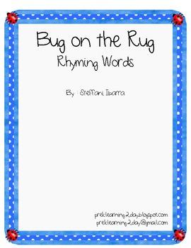 Bug on the Rug Rhyming Words
