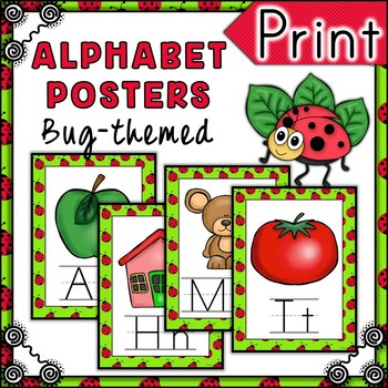 Bug Themed Alphabet Posters