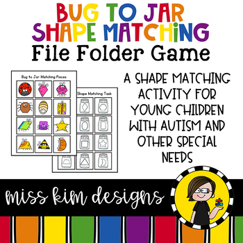 Bug to Jar Shape Match File Folder Game for Special Education