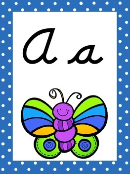 Bug/Insect Themed Cursive Alphabet Wall Display!