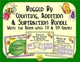 Bugs Count, Add & Subtract Bundle with 10 & 20 Frames {Subitizing}