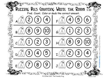 Bugged by Counting 1-10 {Subitizing with Dice}