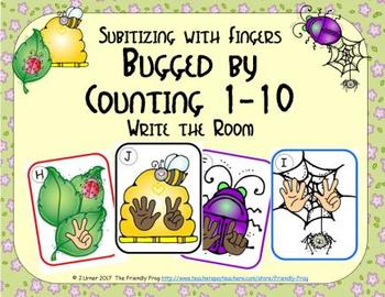 Bugged by Counting 1-10 {Subitizing with Fingers}