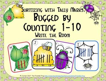 Bugged by Counting 1-10 {Subitizing with Tally Marks}