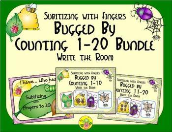 Bugged by Counting 1-20 Bundle {Subitizing with Fingers}