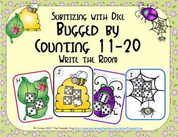 Bugged by Counting 11-20 {Subitizing with Dice}