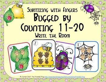Bugged by Counting 11-20 {Subitizing with Fingers}