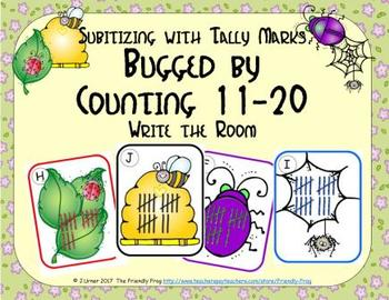 Bugged by Counting 11-20 {Subitizing with Tally Marks}