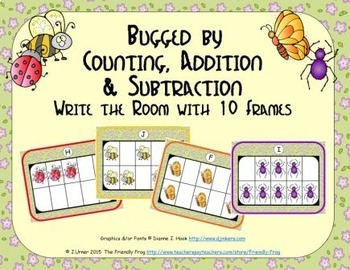 Bugged by Counting, Addition & Subtraction with Ten Frames {Subitizing}