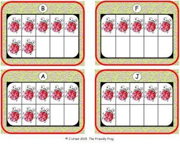 Bugs Counting, Addition & Subtraction with Ten Frames {Subitizing}