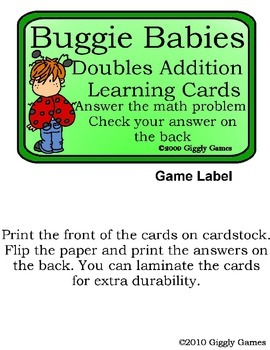 Buggie Babies Doubles Addition Play and Learn Pack