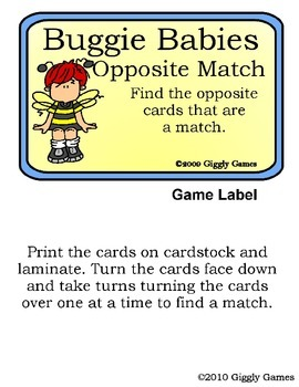 Buggie Babies Opposites Play and Learn Pack