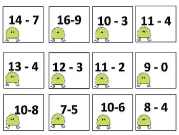 Buggie Subraction- 1st and 2nd grade