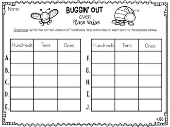 Buggin' Out Over Place Value! (A Write The Room Activity)