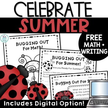 End of Year Writing and Math FREE