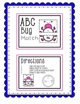 Bug/Spring Beginning Sound Match and QR Code Letter Search