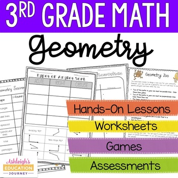 Geometry Unit - Third Grade Math {Focus on Quadrilaterals}