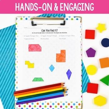 Geometry Unit - Third Grade Math {Focus on Quadrilaterals}