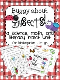 Buggy About Insects! {Insect Themed ELA, Science, and Math Centers & Worksheets}