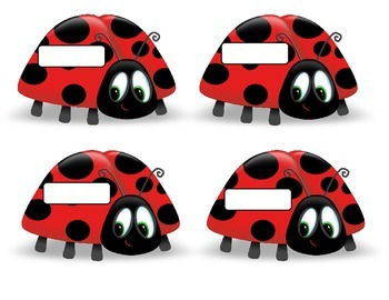 Buggy About Spring Bulletin Board Set.  Spring Idea.  Lady Bugs. Black White Red