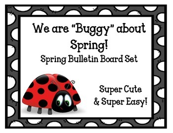 Buggy About Spring Bulletin Board Set.  Spring Idea.  Lady