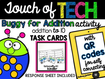Buggy Addtion to 10 Task Cards with QR Codes for Self-Correcting