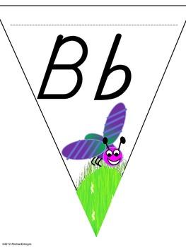 Buggy Alphabet Pennants