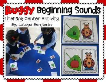 Beginninng Sounds & Capital to lowercase Match literacy Center (Spring)