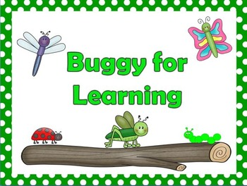 Buggy Behavior Clip Chart with Clip Chart Companion and Parent Letter
