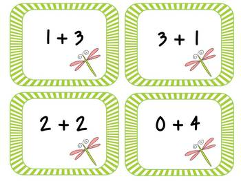 Buggy Bingo: Addition Facts to 10 Math Center