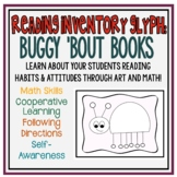 Buggy 'Bout Books Glyph:  a Fun Reading Inventory Survey with Math and Art